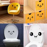 3pcs Cute Mural Toilet Expressions Decor Stickers Art Decal