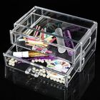 Meilleurs prix Double Layer Acrylic Clear Cosmetic Container Makeup Storage Organizer
