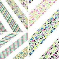 Large Sheet Geometric Pattern Fluorescence Color Nail Art Sticker