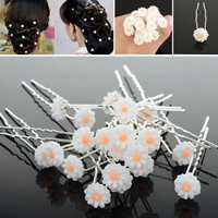 20Pcs Alloy Acrylic Flower Party Prom Hair Pins Clip Accessories Tool