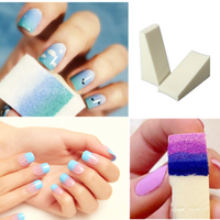 8Pcs Gradient Nail Art Soft Sponges Manicure Accessories