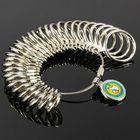 Meilleurs prix 31pcs Metal Finger Ring Sizer Tool Jewelry Measure Gauge Tool
