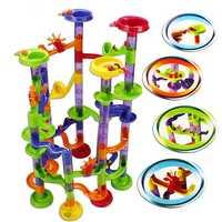 58Pcs DIY Run Race Construction Child Building Blocks Toys Development Toys Christmas Gifts