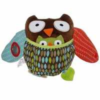 Baby Hug and Hide Animal Dog Owl Bear Monkey Sheep Plush Teether