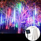 Meilleurs prix Waterproof Solar Powered 50cm 8 Tubes LED Meteor Shower Rain Garden Tree HoliDay Light