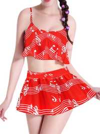 Women Comfort Multi Pattern Printed Tankinis Elastic Soft Swimsuit Sets