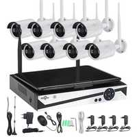 Hiseeu 10 Inch Displayer 8CH 960P Wireless CCTV System NVR IP Camera IR-CUT Bullet CCTV Security Kit