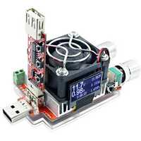 35W Constant Current Double Adjustable Electronic Load + QC2.0/3.0 Trigger Quick Voltage USB Tester Voltmeter Aging Discharge