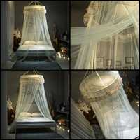 Princess Hanging Round Lace Canopy Bed Netting Comfy Student Dome Mosquito Net Insect Bed Canopy Net