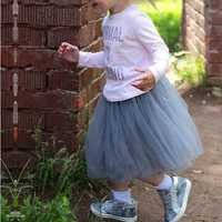 Cute Kid Girls Pure Color Princess Tutu Skirts (Not including shoes.)