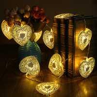 10 LED Christmas Love Heart String Light Home Shop Decor