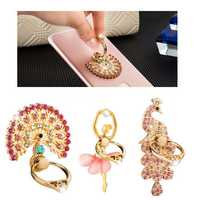 Multifunction Bling Bling Desktop Bracket Phone Holder Finger Ring Stand for Xiaomi Mobile Phone