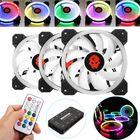 Prix de gros Coolmoon 3PCS 120mm Adjustable RGB LED Light Computer Case PC Cooling Fan with Remote