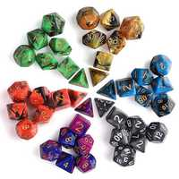 42Pcs 6 Sets Polyhedral Dice 6 Colors D&D RPG With 6 bags