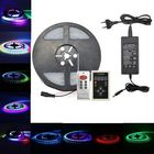 Meilleurs prix 5M SMD5050 IC6803 RGB Remote Control Waterproof LED Strip Light+RF Controller+Power Adapter DC12V