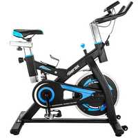 Merax S501 Indoor Cycling Bike Exercise Bike Belt Drive with 28 lbs Flywheel Exercise Tools Led Player