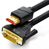 SAMZHE DVI(24+1) to HDMI/ HDMI to DVI(24+1) Bi-Directional Transmission 1080P HDMI Cable for PC Projector TV Screen Xbox Laptop
