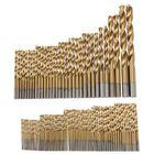 Discount pas cher Drillpro 100pcs 1.5mm - 10mm Titanium Coated Drill Bit Set High Speed Steel Manual Twist Drill Bits
