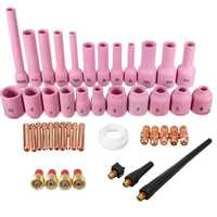 46Pcs TIG Gas Lens Collet Body Assorted Size Kit for TIG Welding Torch SR WP9 20
