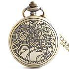Best Price DEFFRUN Retro Bronze Romantic Style Quartz Pocket Watch