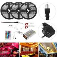 15M SMD5050 RGB Flexible Waterproof Alexa APP Home Wifi Control Smart LED Strip Light Kit AC110-240V