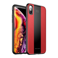 Bakeey Protective Case For iPhone X/XR/XS/XS Max/8/8 Plus/7/7 Plus/6s/6s Plus/6/6 Plus Leather Texture Anti Fingerprint PU Leather TPU Bumper Back Cover