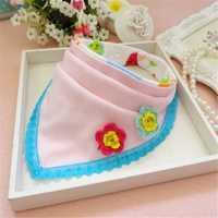 Baby Kids Cotton Bib Multifunction Scarf Burp Cloths Cute Bibs Triangle Feeding Towel Saliva Apron