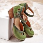 Bon prix Women Color Stitching Plus Size Chunky Heel Casual Pumps