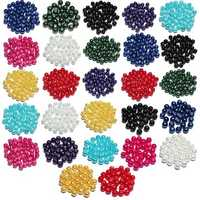 4 6 8mm Multicolor Glass Beads Round Spacer Loose Beads DIY Jewelry Accessories