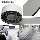Meilleurs prix 240x5.8x0.5cm EVA Flooring Faux Imitation Teak Gray&Black Decking Boat Flooring Sheet Pad
