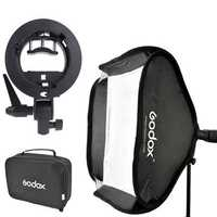 Godox S-Type 80 x 80cm Speedlite Softbox with Bracket Mount Holder for Photography Studio