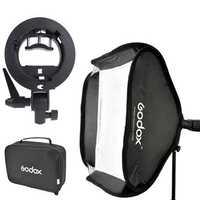 Godox S-Type 80 x 80cm Speedlite Softbox with Bracket Mount Holder for Photography Studio