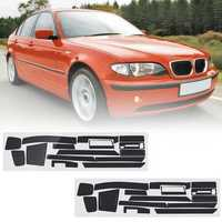 Carbon Fiber Pattern Car Interior Dashboard Sticker Wrap Decoration Left Hand Driving for BMW 3-Series E46 2001-2004