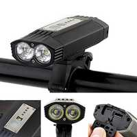 XANES® DL23 1200LM German Standard Bike Light 4000mAh USB Rechargeable Waterproof Bike Front Light 3 Modes Night Riding Warning Light