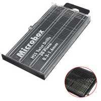 20pcs 0.3-1.6mm Micro HSS Twist Drill Bits Set Straight Shank
