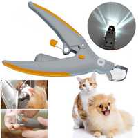 Durable Illuminated Nail Trimmer Cats Dogs Clippers Grinders Pet Care Tool