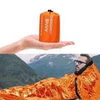 PE Aluminum Film Sleeping Bag 1 People Outdoor Camping Waterproof Sleeping Pad Portable Folding Sleeping Mat