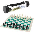 Buy at Best Price 43*43cm Outdoor Travel Tournament Size Chess Game Set Plastic Pieces Green Roll Portable Family Game