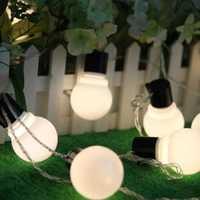 KCASA CSL-3 Halloween Light Gardening 5M 20 LED String Light Blub Shape Holiday Garden Party Wedding Decoration