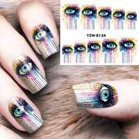 Dancingnail Halloween Nail Sticker Sheet Decoration Colorful Eyes Charming Manicure Nails Decal