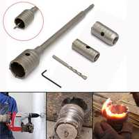 3pcs 30/40/50mm SDS Plus Shank Hole Saw Cutter Concrete Cement Stone Wall Drill Bit with Wrench