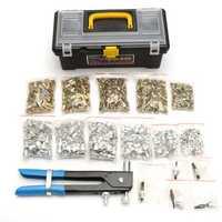 1064Pcs M3 M4 M5 M6 M8 Blind Rivet Nut Rivnut Nutsert Insert Tool Set Kit