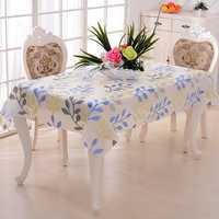 PVC Tablecloth Europe Rural Style Waterproof Oilproof Tablecloth Bronzing Rectangular Table Cover