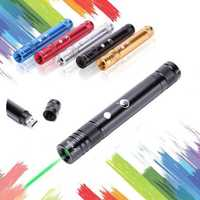 U KING ZQ-J35 532nm USB Rechargeable Green Laser Pointer Flashlight Laser Pen Laser Supply Laser Pen