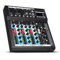 4 Channel USB bluetooth Audio Mixer Portable Live Studio Mixing Console
