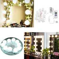 US Plug 3.6M Hollywood 10Bulbs Makeup Mirror Vanity Light Kit for Dressing AC110-220V