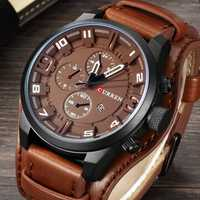 CURREN 8225 Fashion Men Leather Strap Quartz Wristwatch