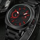 Discount pas cher NAVIFORCE 9069 Stainless Steel Band Three Dials Fashion Quartz Men Sport Wrist Watch