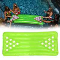 PVC Inflatable Beer Pong Table 22 Cup Holes Water Floating For Pool Party Drinking Game