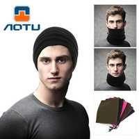 AOTU AT8723 Fleece Head Scarf Double Warm Collar Movement AgainstThe Hood Winter Multifunctional